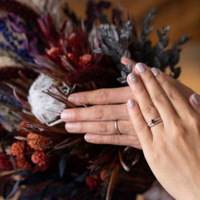 結婚式の指輪の写真