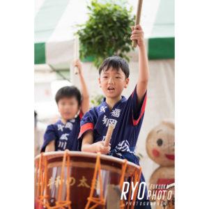 太鼓の発表会の写真