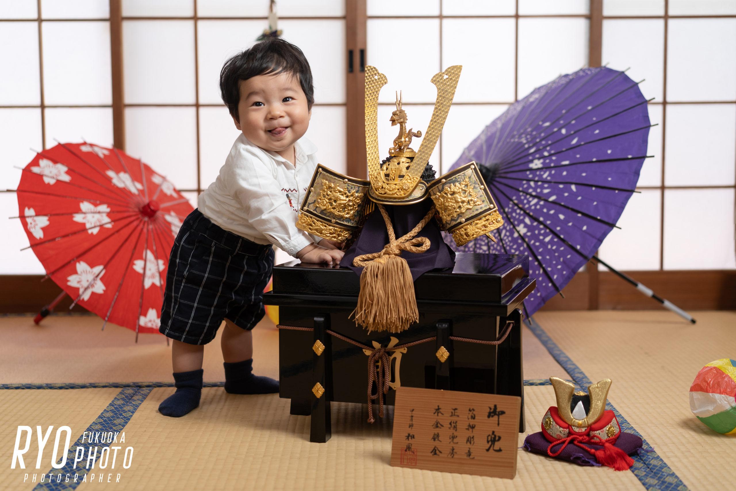 福岡の出張撮影サービス「RYO PHOTO(リョウフォト)」の出張カメラマン山口が福岡で出張撮影した初節句の写真