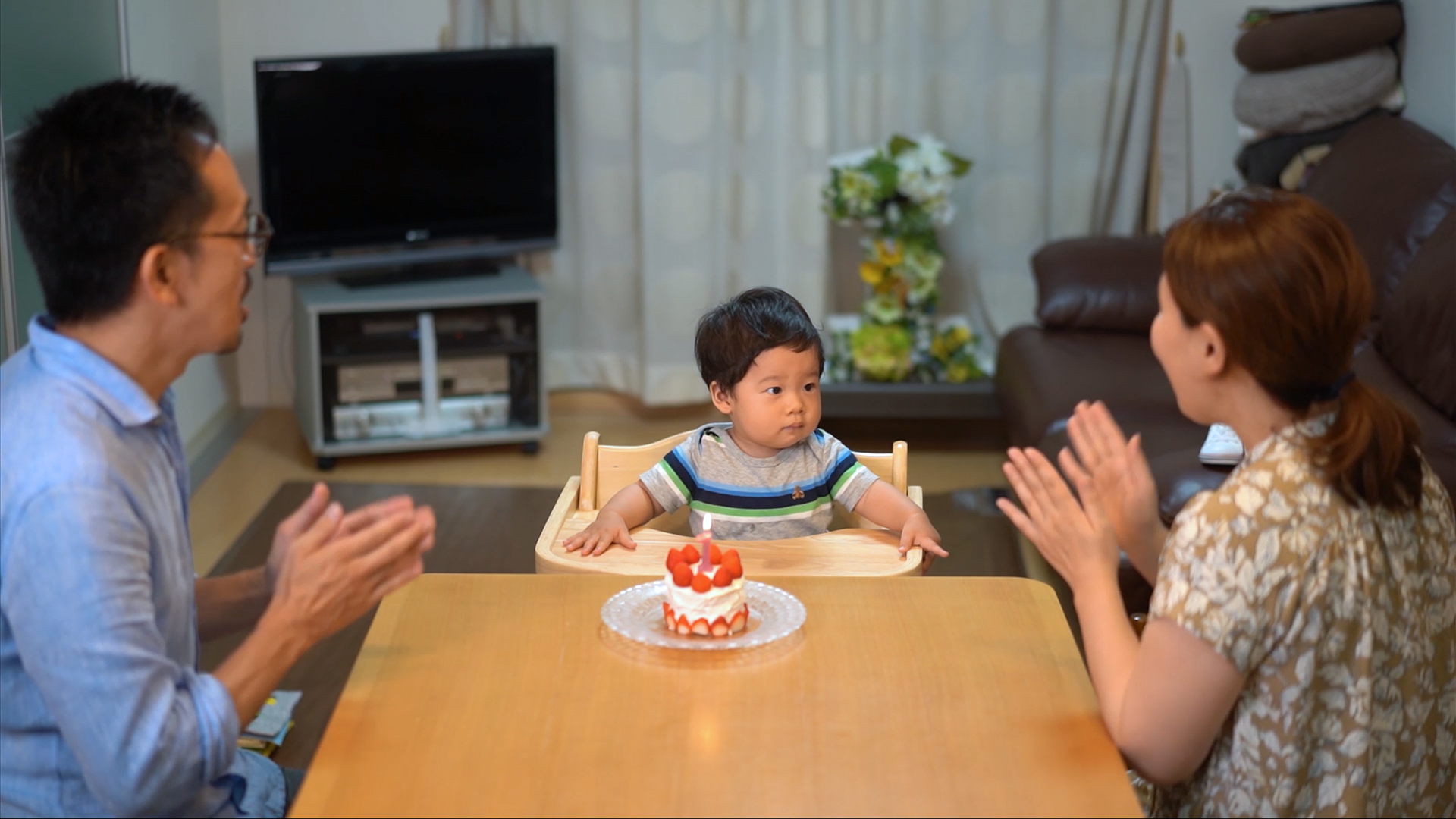 お誕生会の写真