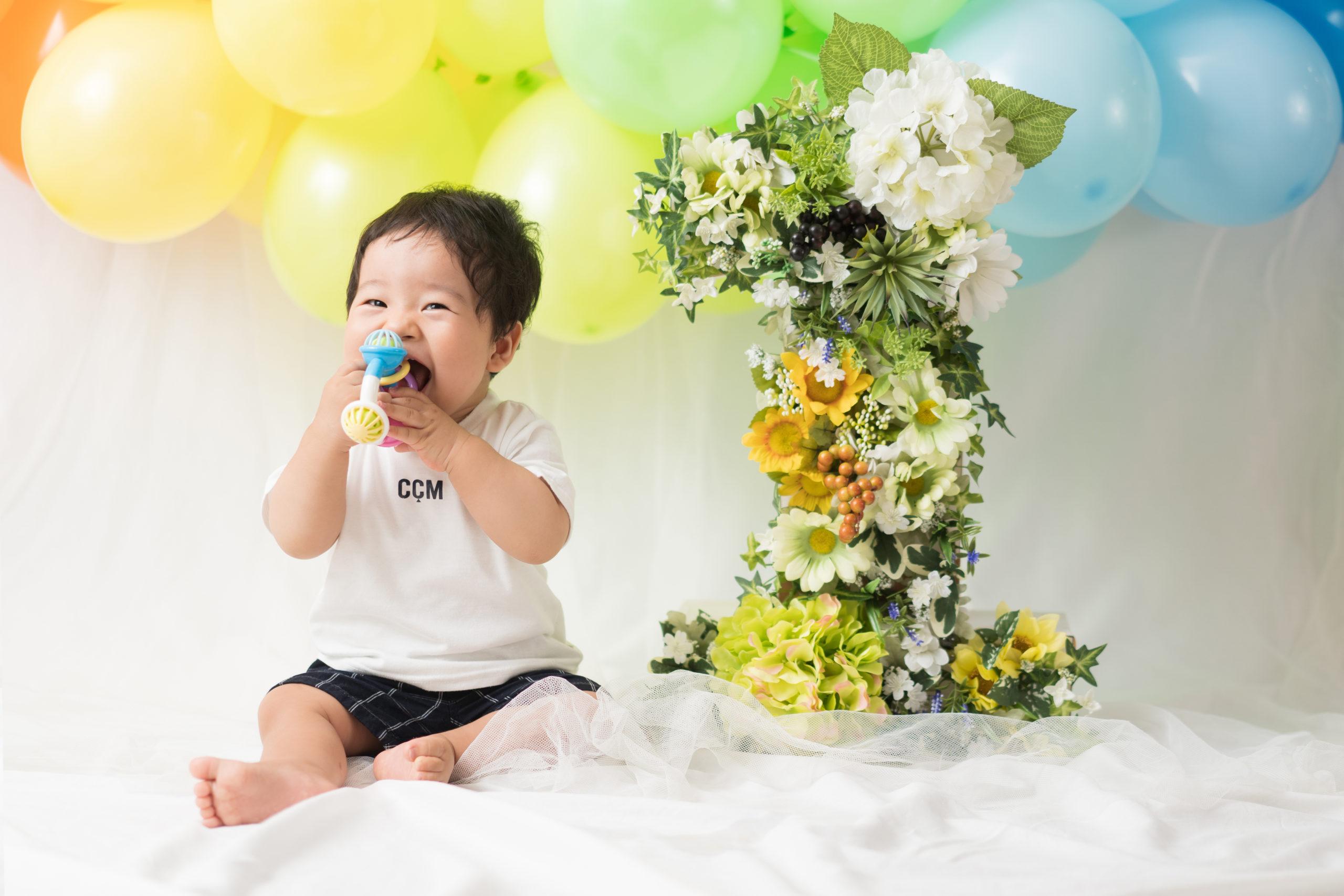 1歳記念撮影の写真