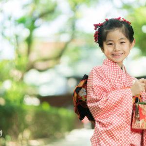 7歳の女の子の七五三の写真
