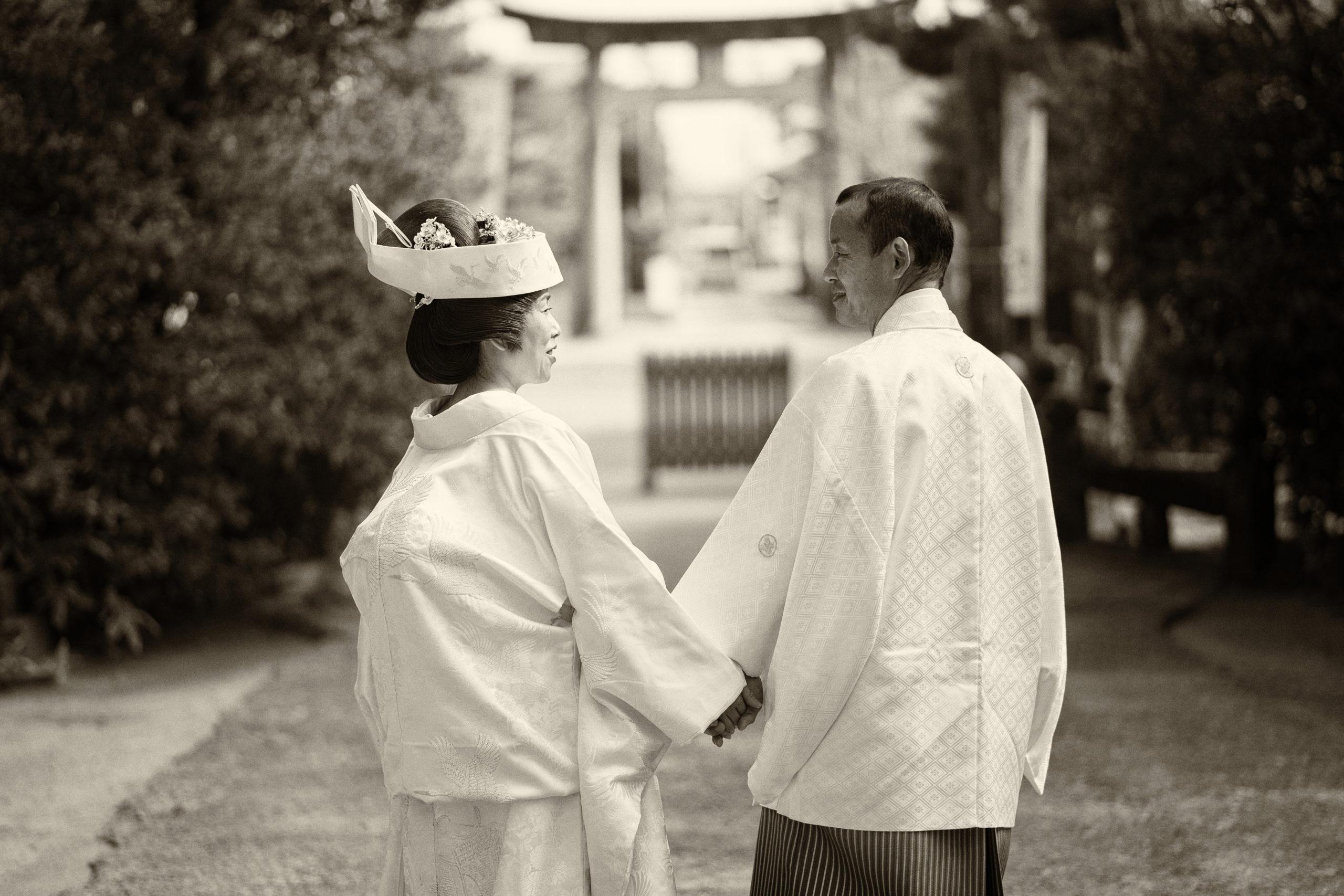 結婚式のポーズ写真