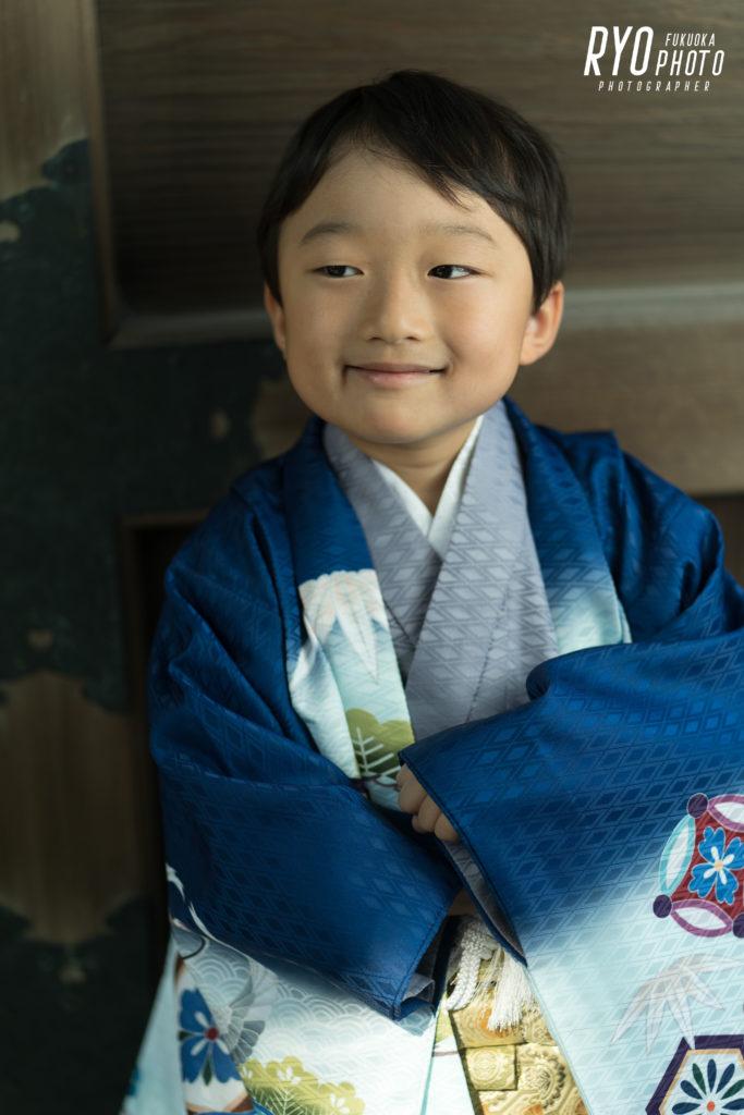 5歳の男の子の七五三の写真