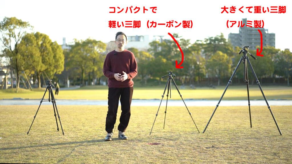 三脚の解説の写真