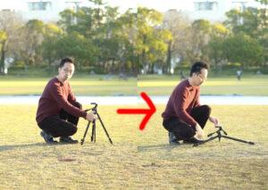 三脚の説明の写真