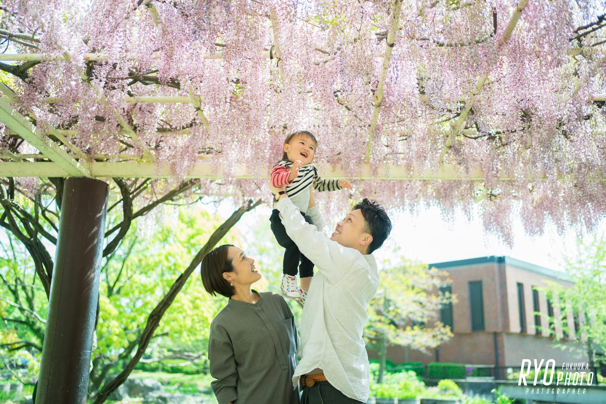 石橋文化センターで撮影した家族写真