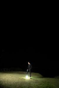 星空セルフポートレートの写真